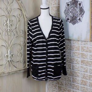 Maurices Pinned Striped Button down Cardigan